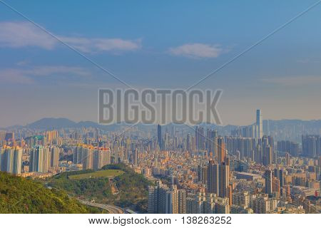 A Polluted Kowloon Cityscape