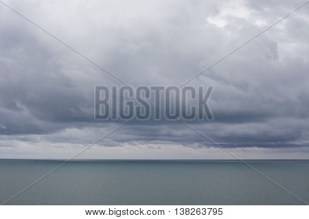 Dark Sea and Stormy Clouds Beautiful Background