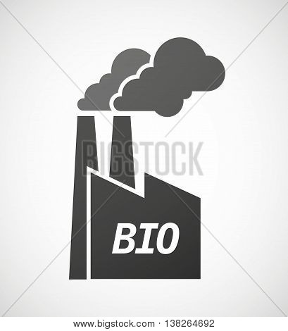 Isolated Industrial Factory Icon With  The Text  Bio