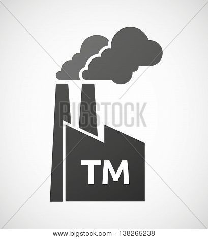 Isolated Industrial Factory Icon With    The Text Tm