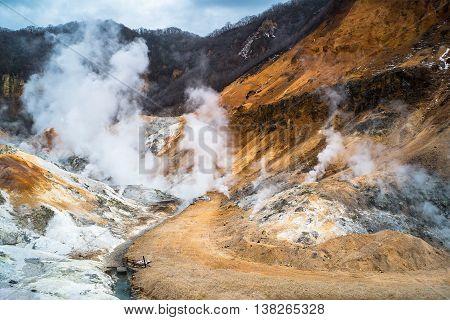 Hell Valley In Noboribetsu