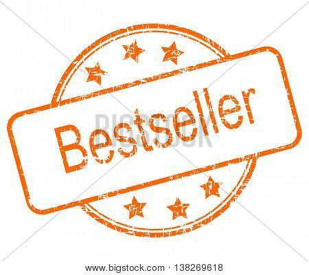 orange Bestseller rubber stamp on white background - illustration