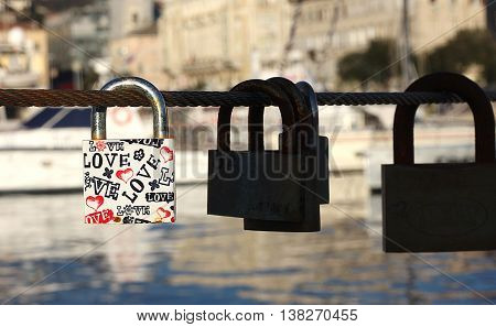 Padlock With Love Text