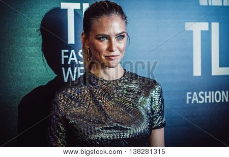 Tel Aviv Israel - October 18 2015. Israeli model television host actress Bar Refaeli poses for photo during fashion week in Tel Aviv