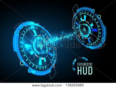vector  illustration of Futuristic interface HUD, banner background.