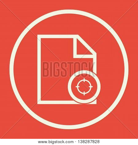 File Goal Icon In Vector Format. Premium Quality File Goal Symbol. Web Graphic File Goal Sign On Red