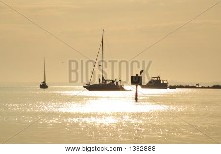 Sailboat At Dusk