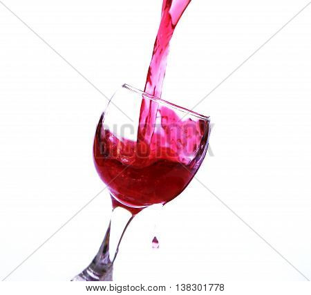 glasses of sparkling red wine on a white background photo for micro-stock