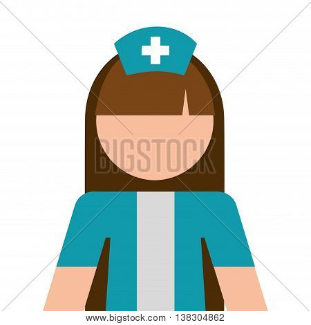 nurse avatar isolated icon design, vector illustration  graphic