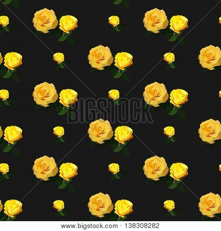 Seamless rose pattern floral background. Vintage flower design. For printing on fabric or paper. Vector illustration.