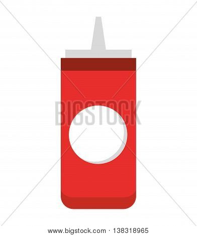 ketchup bottle isolated icon design, vector illustration  graphic