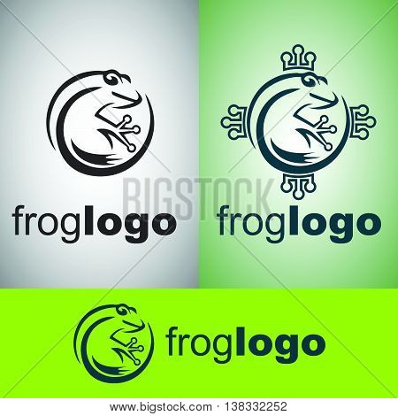 frog  water, green, sign, concept, abstract, nature, symbol, graphic, white, design, background, art, vector, illustration, isolated, logo, cute, cartoon, animal, ecology, tropical, environment, company, icon, wildlife, jump, zoo, frog, amphibian, toad
