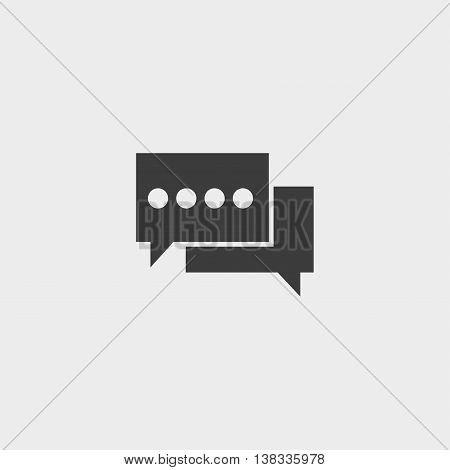 Speech bubbles icon in a flat design in black color. Vector illustration eps10