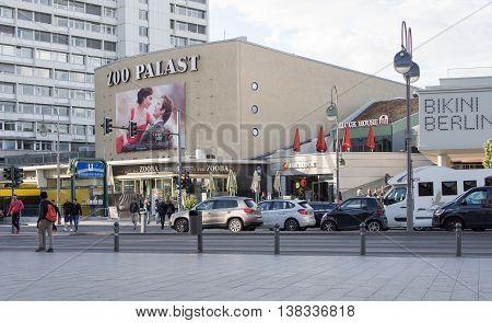 BERLIN GERMANY - JULY 6 2016: famous cinema Zoo Palast in Berlin Germany