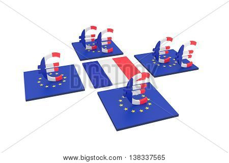 French contribution to the EU 3d illustration