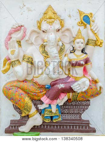 Ganesha Statue,  The Public Is Open To The People Worship. (shakti Ganapati)