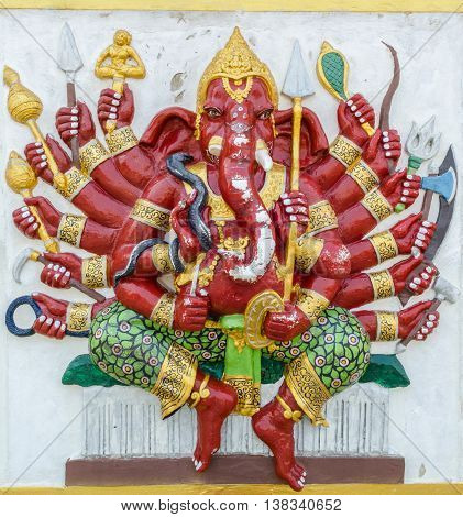 Ganesha Statue,  The Public Is Open To The People Worship. (vira Ganapati)