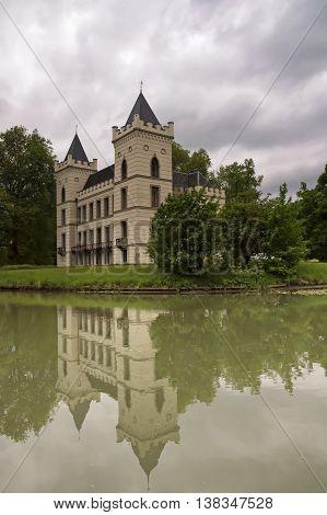 Castle Beverweerd along the Kromme Rijn river near the village Werkhoven in the Dutch province Utrecht