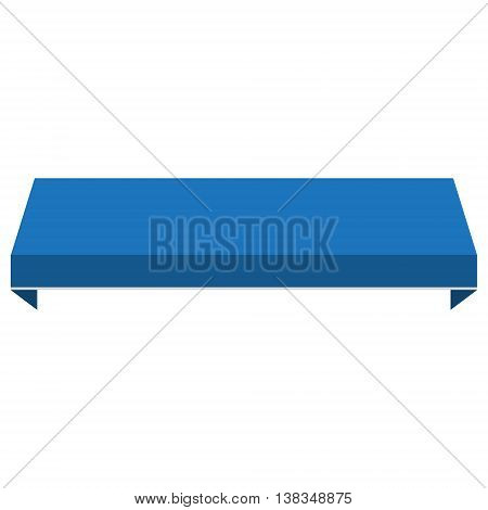 Vector illustration blue shopstore window awning. Awning canopy icon