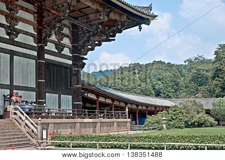 Save Download Preview Pindola Divinity statue at the entrance of Todaiji Temple, Nara, Japan.