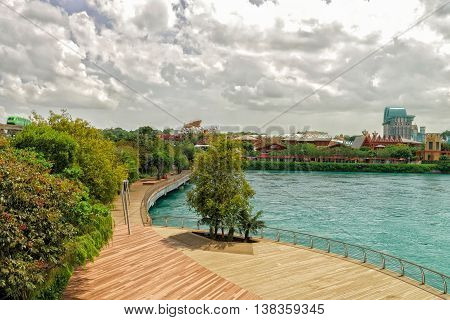 Sentosa Express And Sentosa Boardwalk Lead To Sentosa Island