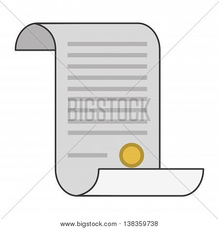 flat design law decree icon vector illustration