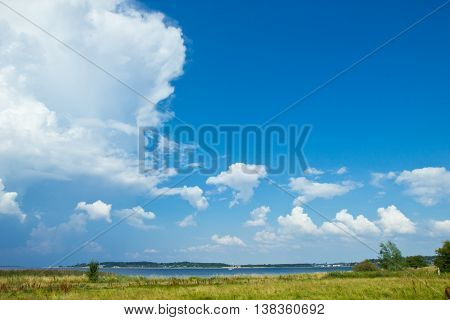 beautiful view over the Roskilde fjord, Denmark
