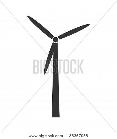 Renewable energy icon in black and white , vector illustration graphic design.