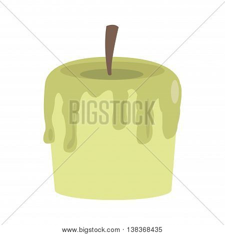 flat design single candle icon vector illustration