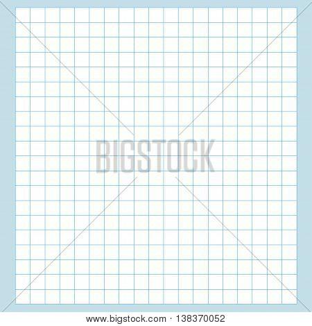 Blank millimeter paper. Grid sheet. Blue line.