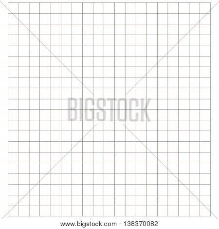 Blank millimeter paper. Grid sheet. Gold line.