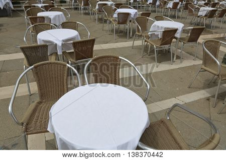 Vacant Table In The Cafe