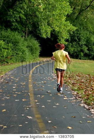 Redhaired Girl Running