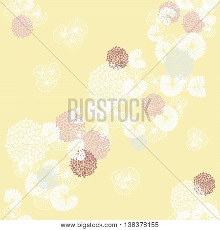 Cockles and Mussels on Yellow Seamless Pattern