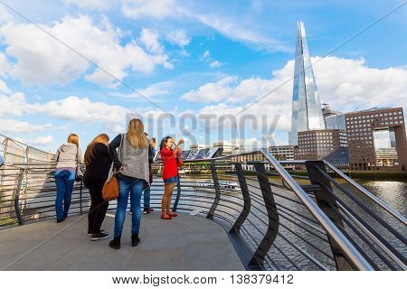 View From London Bridge To The Shard, London, Uk