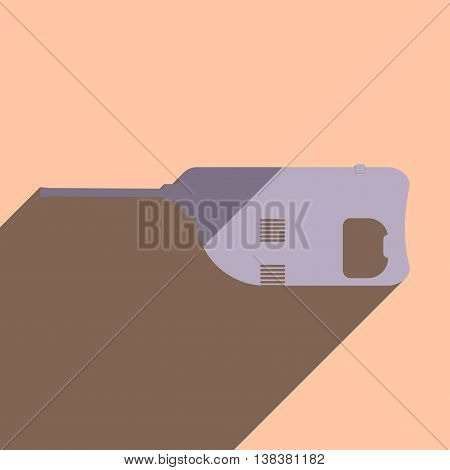 Flat icons with shadow of jackhammer. Vector illustration