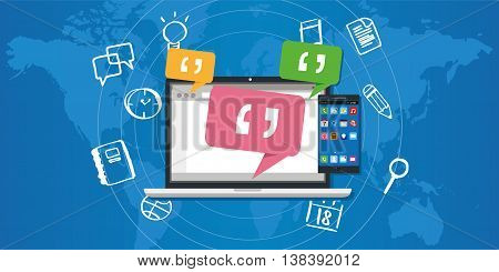 enterprise messaging system ems vector illustration concept