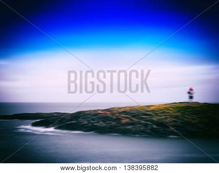 Horizontal Vintage Motion Blur Lighthouse Abstract Landscape Bac