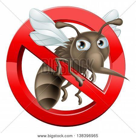 No Mosquito Sign