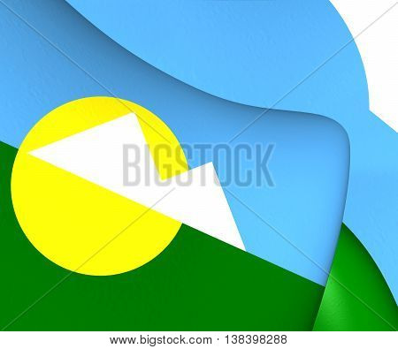 Flag Of Montes Claros (minas Gerais State), Brazil. 3D Illustration.