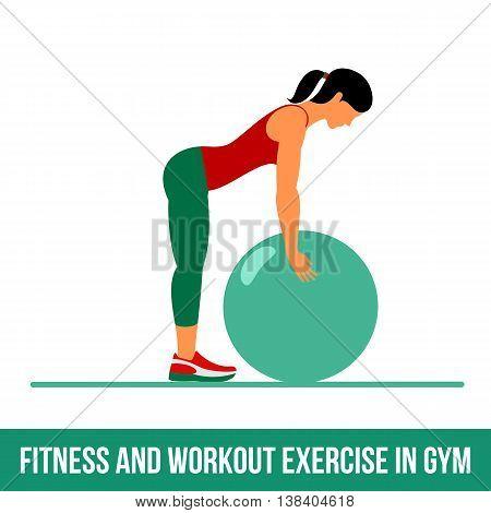 Aerobic Icons. Ball Exercise