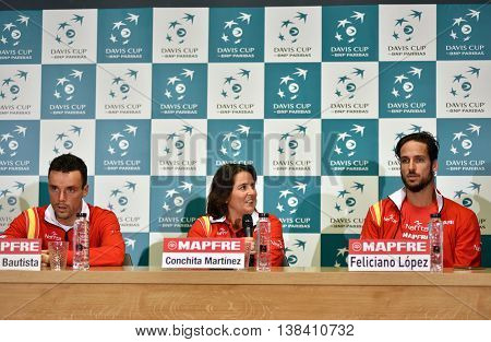 Spanish Tennis Players During A Davis Cup Press Conference