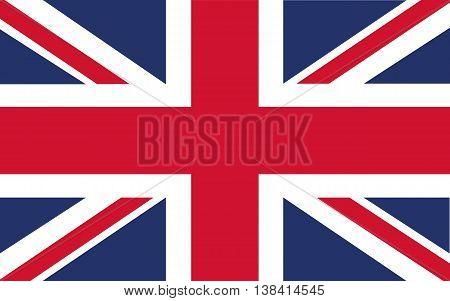 illustration of British Union Jack national country flag.