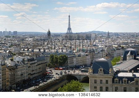 Paris Panoramic View from Nota  Dames Chruch