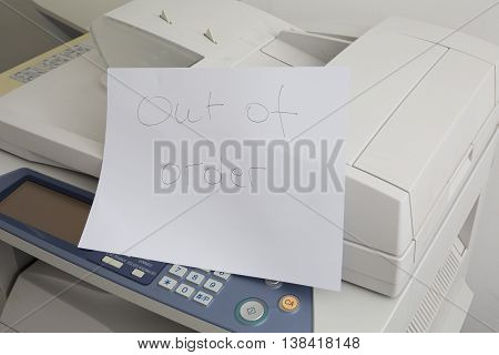 Copy Machine Needs To Be Fix, Printer Failure