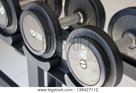 Close Up Fitness Exercise Equipment Dumbbell Weights.
