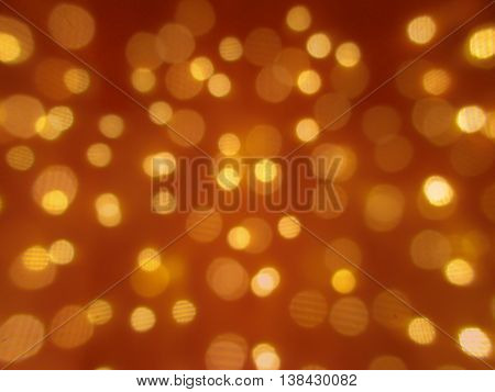 Twinkling lights in bokeh - shallow focus background