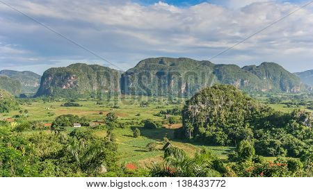 Panorama Of Valle Vinales In The West Of Cuba
