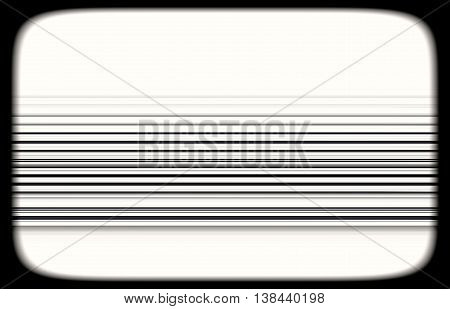 Horizontal Black And White Tvset Static Lines Illustration Backg