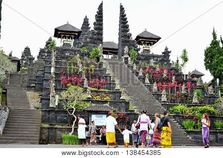 BALI, INDONESIA - 28 MAY 2015: Besakih Temple the mother temple of Bali